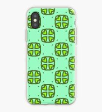 design botanical daisies daisy seamless colorful repeat pattern iPhone Case
