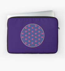 Fleur de vie bleue et fushia Housse de laptop