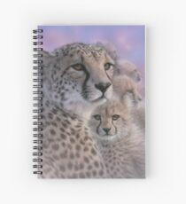 """Cheetah """"Mother's Love"""" Spiral Notebook"""