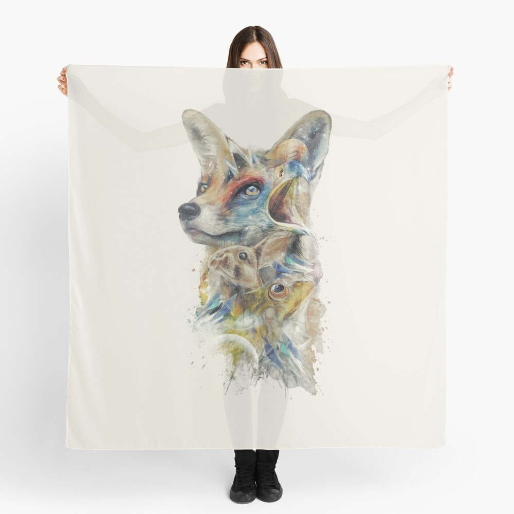 Heroes of Lylat Starfox Inspired Classy Geek Painting Scarf