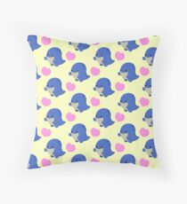 Guild Wars 2- Blue Quaggan Throw Pillow