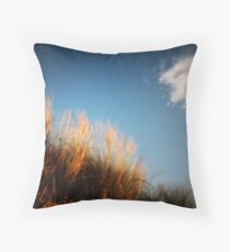 Grass (with cloud) Throw Pillow
