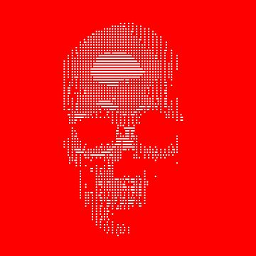 Squared Off Skull Red by Delibobs
