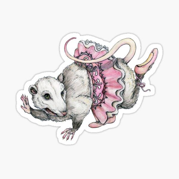 'Possum en Pointe Sticker