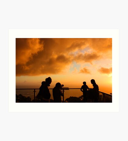 Capturing the sunset Art Print