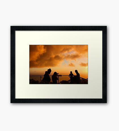 Capturing the sunset Framed Print