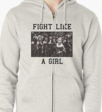Fight Like a Girl Zipped Hoodie