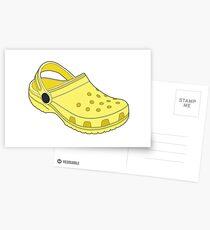 Crocs Shoe Lemon Postcards