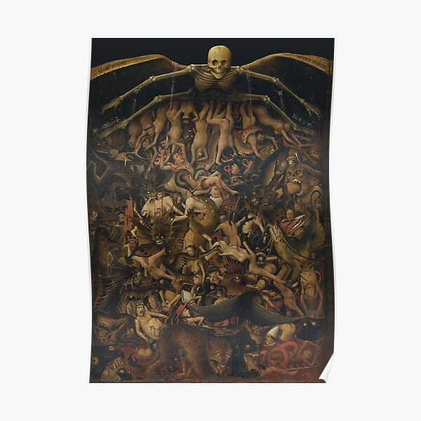 HD The Crucifixion The Last Judgment (detail) by Jan van Eyck HIGH DEFINITION Poster