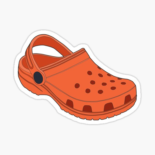 Crocs Shoe Orange Tangerine  Sticker