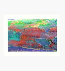 Map of Colors Art Print