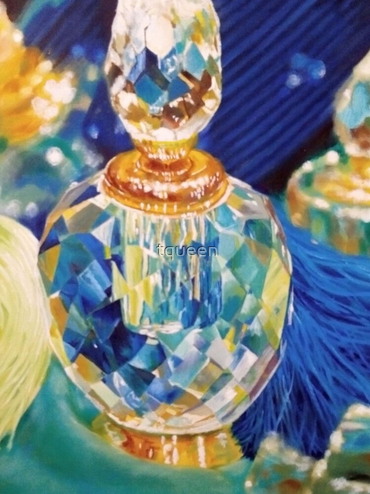 Perfume bottles and Silk shawls by tqueen