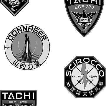 MCRN Low Viz Sticker Pack by Tzsycho