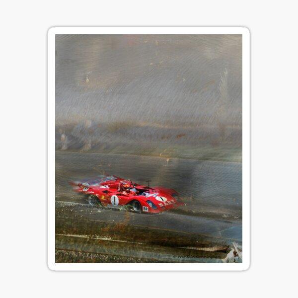Super Car Art #6 At Speed Sticker
