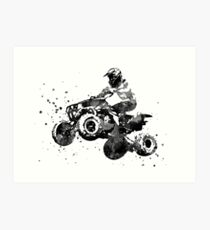 Quad bike, motorcycle race Art Print