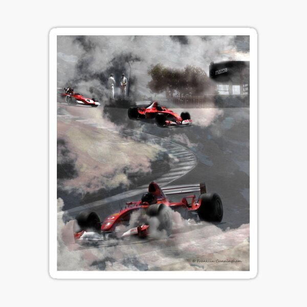 Super Car Art #7 Fog on the Corkscrew Sticker