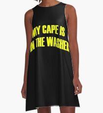Cape superhero cape washing machine A-Line Dress