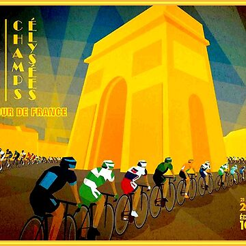 TOUR DE FRANCE : Vintage Bike Racing Advertising Print by posterbobs