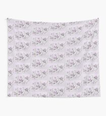 Purple Lilac and Green Vine Pattern Wall Tapestry