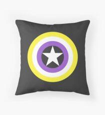 Pride Shields - Nonbinary v1.2 Throw Pillow
