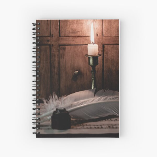Composing by candlelight Spiral Notebook