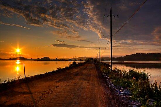 Road to the new day by Veikko  Suikkanen