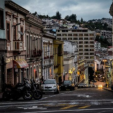 A street in Quito's old town by adrianabreuf