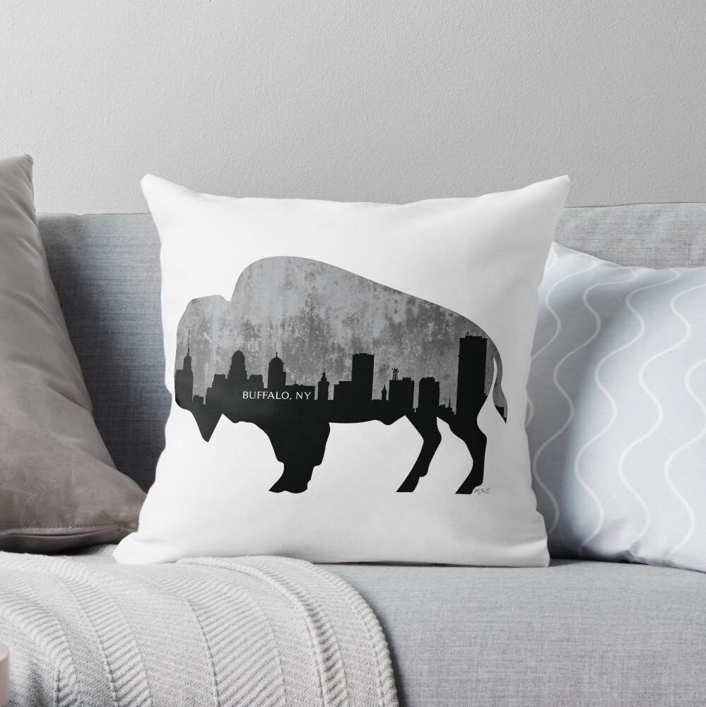 Buffalo, New York Skyline, Zement Dekokissen