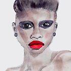 I AM EXQUISITE | A watercolour portrait of female strength | Gráinne McKenna Art by GrainneMcKenna