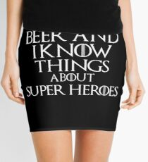 I drink beer and i know things about Super Heroes, #Super Heroes  Mini Skirt