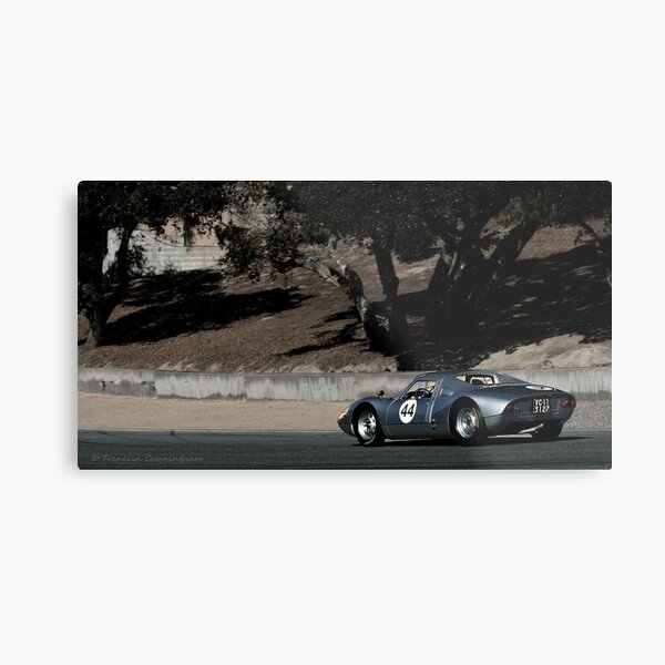 Race Cars of Yesterday on Track Metal Print