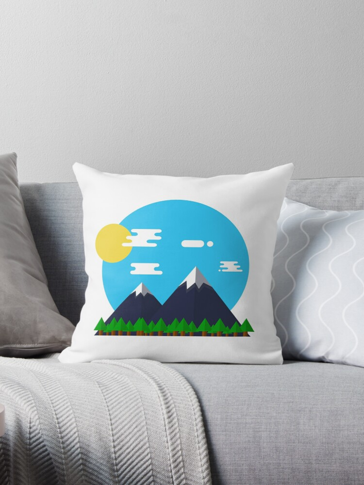 Flat Design Outdoor Mountain Forest Park Sun - gift idea by vicoli-shirts