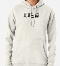 Eat Sleep Dropship Design Black Pullover Hoodie