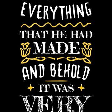 Bible Verse Genesis 1:31 by DOODL