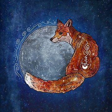 Fox Moon by f-rizzato-art