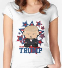 Team Trump Politico'bot Toy Robot Women's Fitted Scoop T-Shirt