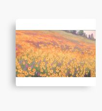 Wildflower Mural without text Canvas Print