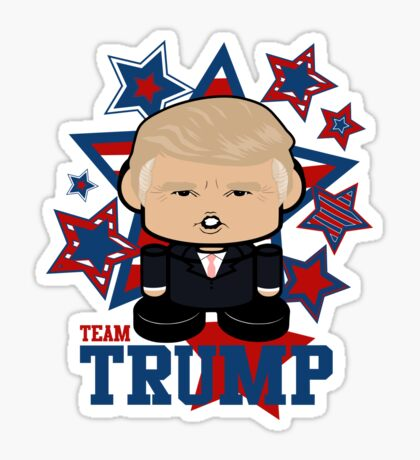 Team Trump Politico'bot Toy Robot Sticker