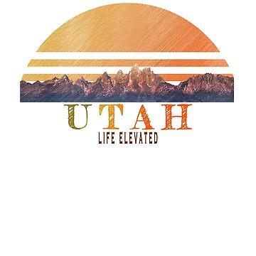 Vintage Utah mountains design by jhussar
