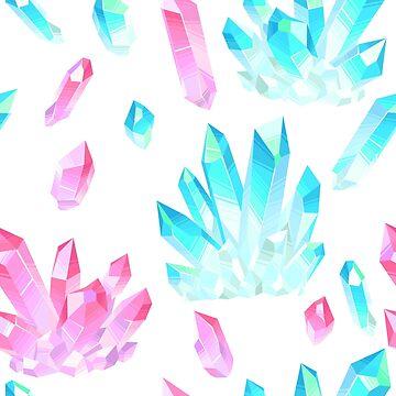 Crystal Geodes Illustration  by newburyboutique