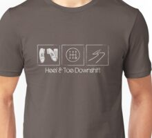 Heel & Toe Downshift - v.02 Unisex T-Shirt