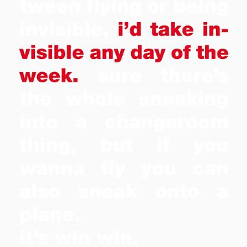 Invisible Any Day Of The Week The Other Way Round by typed