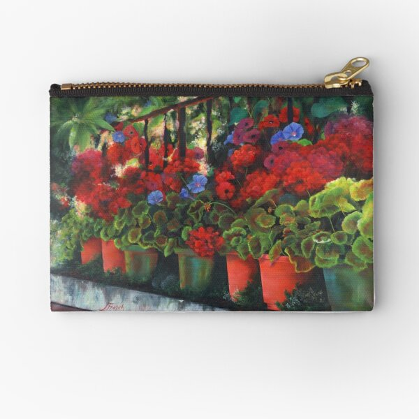 Glorious Geraniums Zipper Pouch