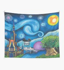 Starry Night Over the World Wall Tapestry
