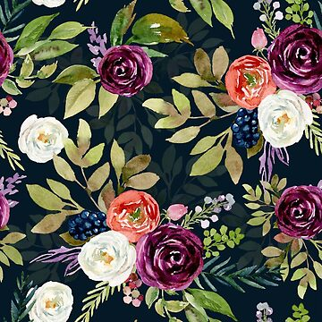 Colorful roses and flowers pattern by artonwear