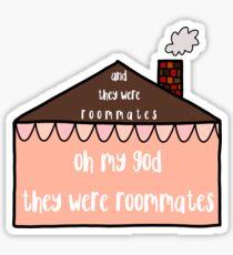 roommates Sticker