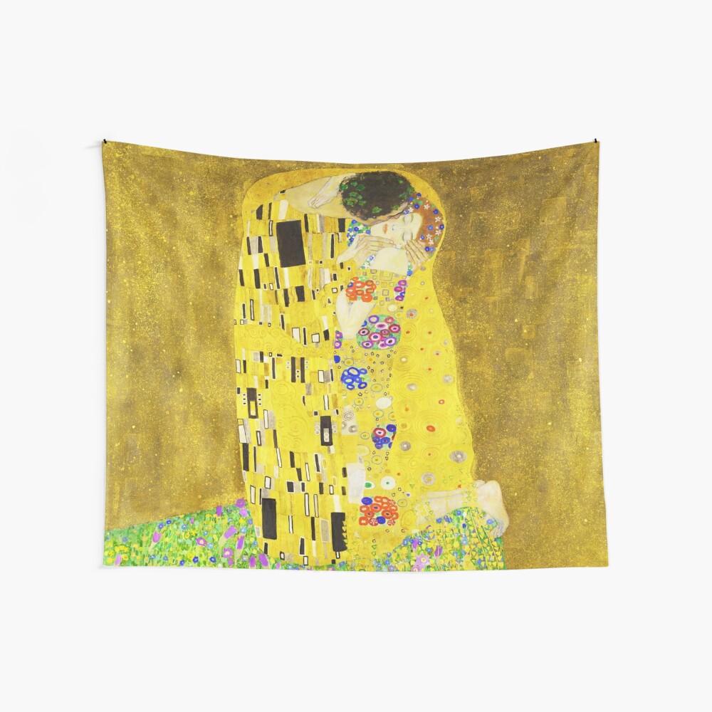 HD Der Kuss, von Gustav Klimt 1907-1908 HIGH DEFINITION Wandbehang