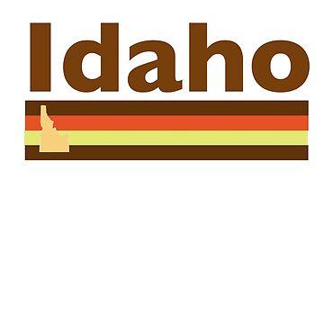 Idaho Vintage Pattern - Retro Idaho State by JenniferMac