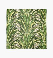 Palms on Stitch Pattern - Black White Gold Scarf