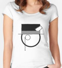 Cartoon Face 4 - Monocled Toff [Big] Women's Fitted Scoop T-Shirt